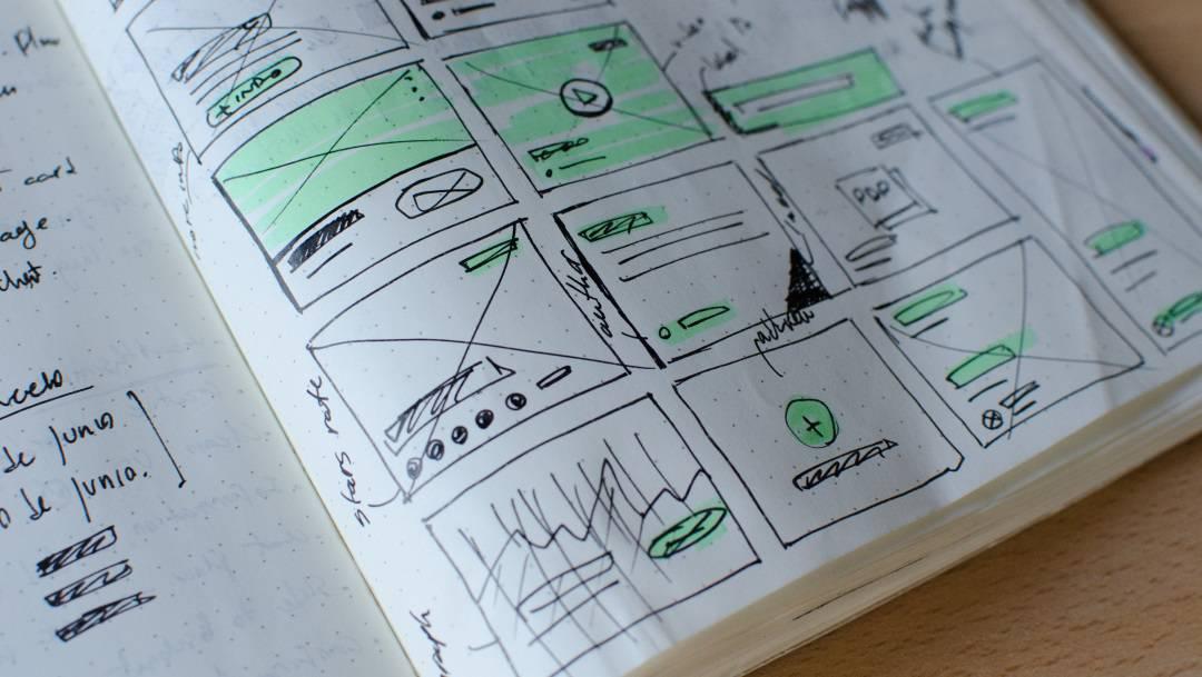 wireframe sketch notebook